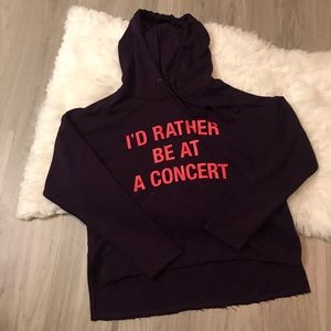 "Forever 21 ""I'd Rather Be At A Concert"" Hoodie S"